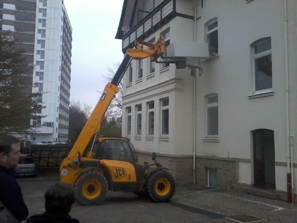 Ausbau eines Banktresors aus dem Obergeschoss