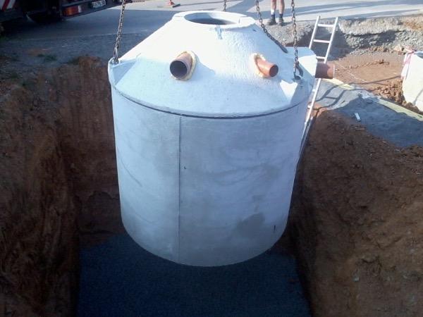 Einbau einer Regenwasserzisterne